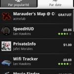 Les applications payantes sont disponibles sur Android Market depuis la France