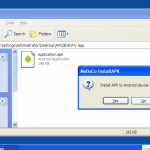 APK2EXE et installAPK – Installez vos applications Android sans Android Market