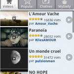 L'application Dailymotion pour Android disponible mais pas sur Android Market
