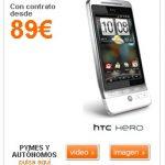 Le HTC Hero est disponible chez Orange Espagne à 89 euros