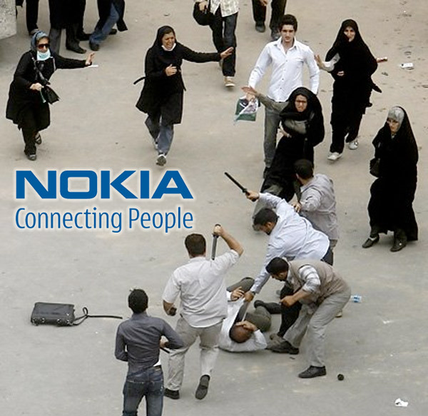 nokia iran who made your shit list in 2k9? thought leader,Nokia Connecting People Meme