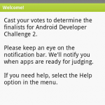 Android Developer Challenge 2 – Téléchargez l'application et votez !