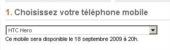 HTC Hero - Tlphone portable - Orange mobile - Mozilla Firefox