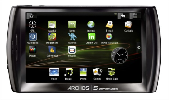 officiel la tablette tactile archos internet tablet sous android