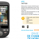 Le HTC Tattoo à 379 euros sans abonnement chez The Phone House