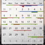 Google calendar en widget avec Pure grid calendar