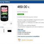 Le Samsung Galaxy à 469 euros sans abonnement sur le Samsung Mobile Shop