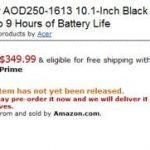 Le netbook Acer Aspire D250 en dual boot Windows XP et Android en pré-vente