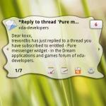 Pure Messenger – le nouveau widget de la serie «Pure»