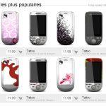 HTC met en ligne un site pour vendre des coques de HTC Tattoo personnalisées