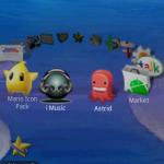 Un lanceur d'application en carrousel avec UltimateFaves sur android