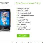Le sony Ericsson Xperia X10 en pré vente chez se-store.co.uk