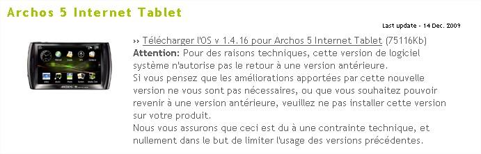 ARCHOS - 1.4.16