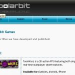 L'ensemble des jeux de Polarbit sous Android Market en 2010