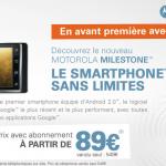 Motorola Milestone alias Droid en avant première chez Rue du Commerce