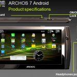 Une tablette Archos 7 pouces sous Android pour mars