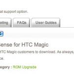 HTC Magic – Mise à jour officielle avec Sense pour les modèles 32A