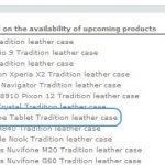 L' Archos Phone fait une apparition dans un listing de Norêve