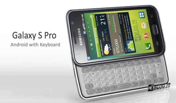 samsung galaxy s pro avec clavier physique android franceandroid france. Black Bedroom Furniture Sets. Home Design Ideas