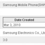 Samsung SHW-M120S – Premier terminal Android Bluetooth 3.0