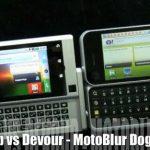 Motorola Backflip versus Motorola Devour