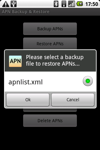 apn backup restore une application pour ne plus saisir vos apn android franceandroid france. Black Bedroom Furniture Sets. Home Design Ideas