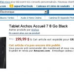 Archos 7 Home tablet disponible en pré-vente aux USA