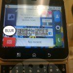 Motoblur – Photo volée de la nouvelle version sur un prototype
