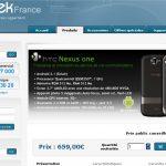 Nexus One – Disponible chez Qtek France