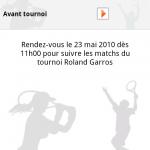 L'application Roland-Garros 2010 disponible aussi sur Android Market