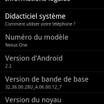 Android 2.2 Froyo – Prise en main