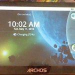 Un Archos 5 Internet Tablet sous Android Eclair
