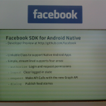Facebook met à disposition son SDK pour Android (enfin presque)