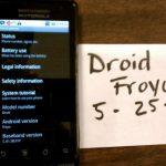 Un Motorola Droid alias Milestone sous Froyo en photos