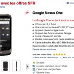 Nexus One – Le Google Phone en stock chez SFR