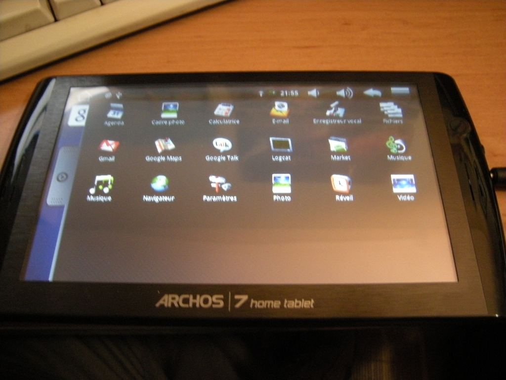 archos tablet installer android market et gmail