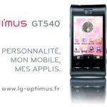 LG Optimus GT540 – Nouvelle campagne Pub