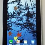 La tablette Samsung Galaxy Tab dans les transports en commun