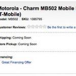 Motorola Charm – Disponible nu chez Best Buy pour 190 €