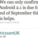 Le Sony Ericsson Xperia X10 sous Android 2.1 avant fin septembre