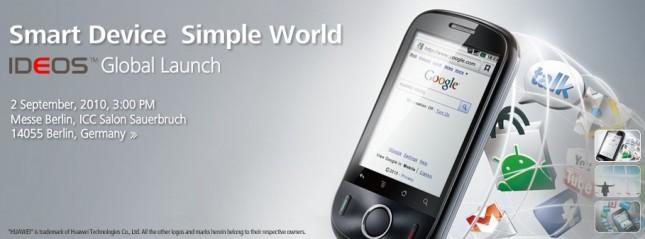 Huawei Ideos - Un terminal d'entrée de gamme sous Android 2.2