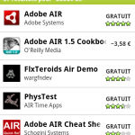 Adobe Air pour Android disponible