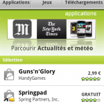 Android Market – Installez la nouvelle version sur Android 2.1