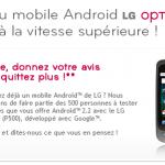 LG Optimus One – Testez-le et donnez votre avis !