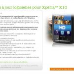 Sony Ericsson Xperia X10 – Mise à jour android 2.1 disponible