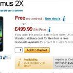 LG Optimus 2X en précommande chez Expansys et ellos