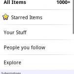 Google Reader – Mise à jour de l'application officielle