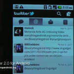 Twitter – La version 2.0 pour Android sur une vidéo