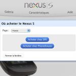 Nexus S – Google officialise sa sortie en France