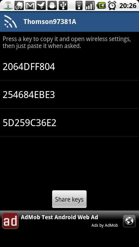 ss 1 320 480 160 1 a36f3624090de1befe0f9fda4b7598156c204520 Penetrate   Une application Android pour cracker les clés WIFI Android France
